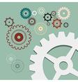 Cogs - Gears Retro vector image