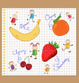 color pencil diary drawing sketchbook vector image vector image