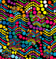Colorful background made of dotes vector image vector image