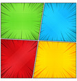 comic book backgrounds collection vector image