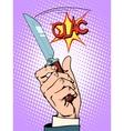 Crime knife arm bandit vector image vector image