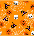 cute halloween pumpkin pattern vector image