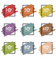 discount sale icon set vector image vector image
