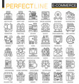 e-commerce stroke outline concept symbols perfect vector image vector image