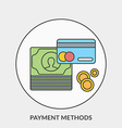 Flat design concept for Payment Methods for vector image vector image