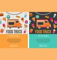 food truck fair night market summer fest vector image vector image