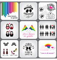 Gay and Lesbian Icon and Design Element vector image