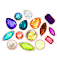 gems isolated on white background vector image
