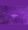 geometric dark purple polygonal background vector image vector image