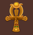 Golden Cross ankh vector image vector image