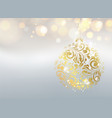 golden dust falls on background abstract card vector image vector image
