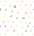 hand painted brush dots seamless pattern texture vector image