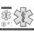 Health care symbol line icon vector image vector image