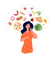 healthy unhealthy food junk vs good foods diet vector image vector image