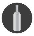 icon with a picture of a wine bottle vector image vector image