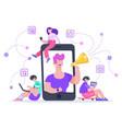 influencer advertising marketing social media vector image