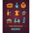 Italian Restaurant menu design vector image vector image