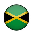 jamaica flag in glossy round button of icon vector image