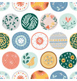 kitchen seamless pattern circles or ceramic vector image