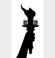 liberty torch vector image