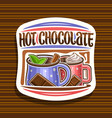 logo for hot chocolate vector image vector image