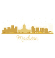 Madison City skyline golden silhouette vector image