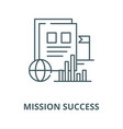 mission success line icon linear concept vector image vector image