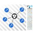 nem mining network flat icon with bonus vector image vector image