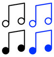 outline melody icon vector image vector image