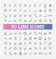 outline web icon set - sport and fitness vector image vector image