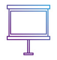 paperboard training isolated icon vector image vector image