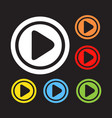 play icon button vector image vector image