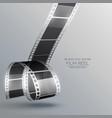 realistic 3d film strip design vector image vector image