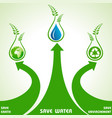 save earthwater and environment concept vector image vector image
