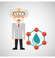 scientist chemistry concept drop water vector image vector image