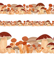 seamless border of mushrooms vector image