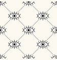 seamless geometry pattern with open eyes vector image vector image