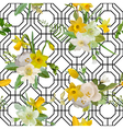 Seamless Pattern Floral Background Spring Flowers