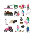 Set of village people flat design isolated vector image vector image