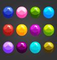 Shiny bubbles-3 vector image vector image