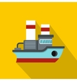 Small ship icon flat style vector image vector image