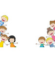 some funny children vector image vector image