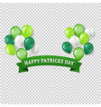 st patricks day banner transparent background vector image vector image