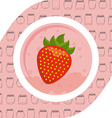 strawberry fruit vector image