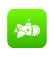 submarine with round nose icon simple style vector image vector image