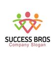 Succes Bros Design vector image