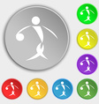 Summer sports basketball icon sign Symbol on eight vector image vector image