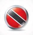 Trinidad and Tobago flag button vector image vector image