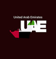 united arab emirates initial letter country vector image vector image