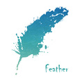 Watercolor feather background vector image vector image